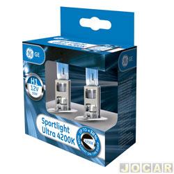 Kit lâmpada do farol - GE (General Electric) - H1 - Sportlight Ultra - luz mais branca 4200K - par - 50310SBU