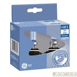 Kit lâmpada do farol - GE (General Electric) - HB3 - Sportlight - luz mais branca 4000K - par - 53810NHSU