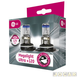 Kit lâmpada do farol - GE (General Electric) - HB4 - Megalight Ultra - 120% mais luz - par - 53070SNU