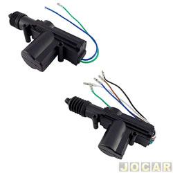 Trava elétrica - H-Tech - dupla serventia - universal - 2 portas - jogo - HTE-2P