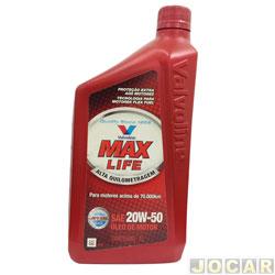 Óleo do motor - Valvoline - Semi-Sintético - Max Life - SAE 20W-50 - 1 L - cada (unidade) - 706568