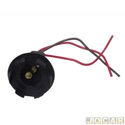 Soquete da lanterna dianteira - alternativo - 2 polos com garra universal - cada (unidade)