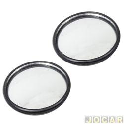 Espelho olho de boi - 56mm de diâmetro - par