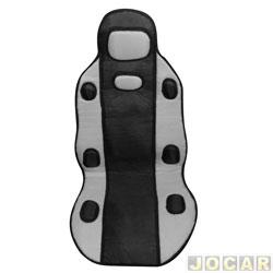 Capa para banco - Dricar - par de encosto tunning universal preto/cinza - dianteiro - par - 2420