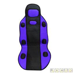 Capa para banco - Dricar - par de encosto tunning universal preto/azul - dianteiro - par - 2430