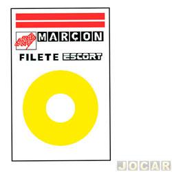 Faixa adesiva - alternativo - 10 metros - faixa paralelas  - âmbar (amarelo) - cada (unidade)