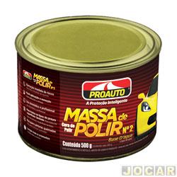 Massa de polir - Proauto - N°2 - base de água - 500 grs - cada (unidade) - 1598