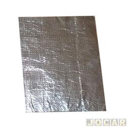 Anti-ruído - universal 20x30cm - capô, porta e lateral - autoadesivo - cromado - cada (unidade)