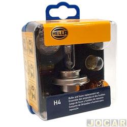 Kit de reposição - Hella - Kit Lâmpadas e Fusíveis Standard - cada (unidade) - H4EMK