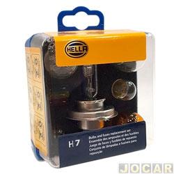 Kit de reposição - Hella - Kit H7 lâmpadas e fusíveis standard - cada (unidade) - H7EMK