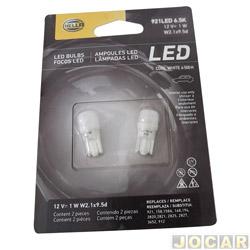 Lâmpada de led - Hella - Led 921 12V 1W W2.1x9.5d 6500 kelvins - par - 921LED6.5K