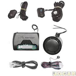 Alarme para automóveis - Hinor - HA19 - 19 funções - com chave canivete - cada (unidade) - 71046