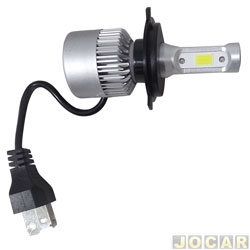 Kit lâmpada led do farol - LedGuzz - Super Ultraled H4 6000k 12-36V 50W 5000 lumens - cada (unidade) - LGZM9CH4