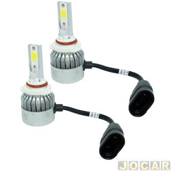 Kit lâmpada led do farol - LedGuzz - Super Ultraled HB3 6000k 12-36V 50W 5000 lumens - jogo - LGZM9CHB3