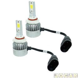 Kit lâmpada led do farol - LedGuzz - Super Led HB3 6000k 9V 38W 4500 lumens - jogo - LGZR5HB3