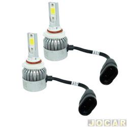Kit lâmpada led do farol - LedGuzz - Super Led HB4 6000k 9V 38W 4500 lumens - jogo - LGZR5HB4