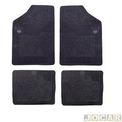 Tapete de carpete+borracha - Borcol - Grupo A (tipo universal - ver detalhes) - Torino 4 peças - grafite - jogo - 03718731.