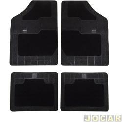 Tapete de carpete+borracha - Borcol - Grupo C (tipo universal - ver detalhes) - Torino 4 peças - preto - jogo - 03718851
