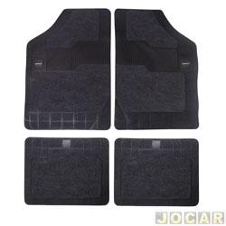 Tapete de carpete+borracha - Borcol - Grupo C (tipo universal - ver detalhes) - Torino 4 peças - grafite - jogo - 03718751.