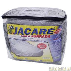 Capa de carro - Bezi - média - Jacaré - impermeável - 100% forrada - prata - cada (unidade) - Média