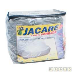 Capa de carro - Bezi - grande - Jacaré - impermeável - 100% forrada - prata - cada (unidade) - Grande