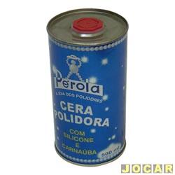 Cera - Pérola - polidora - líquida - 500ml - com silicone carnaúba - cada (unidade) - 010102