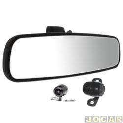 Retrovisor interno - Roadstar - com câmera de ré dianteira e traseira - tela 4.3 - cada (unidade) - RS-504BR