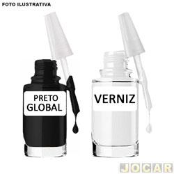 Tinta para retoque automotivo - Preto global - cada (unidade)