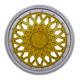 Calota aro 14 - Grid - Premium Sport GSS - pressão - dourado/prata - cada (unidade) - 601AR.DPT.U
