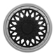 Calota aro 14 - Grid - Premium Sport GSS - pressão - preto/prata - cada (unidade) - 601AR.PBP.U