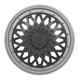 Calota aro 14 - Grid - Premium Sport GSS - pressão - grafite/prata - cada (unidade) - 601AR.PTG.U