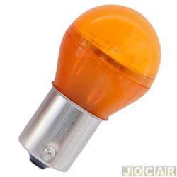 Lâmpada de led - Autopoli - Lanterna 1 polo - bulbo - pinos encontrados - amarela - cada (unidade) - AU011