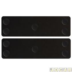 Protetor da porta - P2 Acessórios - magnético e removível - preto - par - 708177