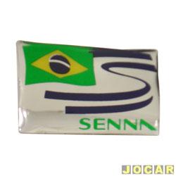 Emblema - alternativo - Bandeira Brasil/Senna - cada (unidade)