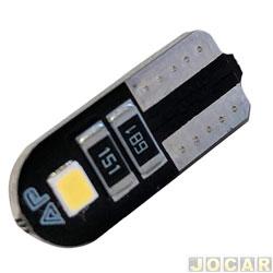 Lâmpada de led - Autopoli - esmagada grande - T10 Slim Canbus 2W - 12V - luz branca - cada (unidade) - AU084