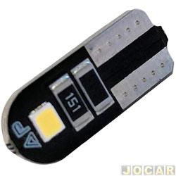 Lâmpada de led - Autopoli - esmagada grande - T10 Slim 2W - 12V - luz branca - cada (unidade) - AU088