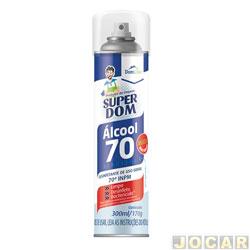 Álcool - 70% Super Dom aerossol - 300mL - cada (unidade)
