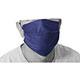 Máscara de proteção facial - de tecido - adulto - lavável - azul escuro - cada (unidade)