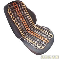 Capa para banco - Dricar - bolinha de madeira para massagear - cada (unidade) - 2534