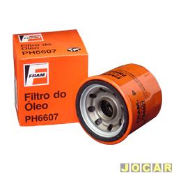 Filtro de �leo - Fram - Clio 1.0 8V/16V -1998 em diante -Logan 1.0/Sandero - 2007 em diante - Kangoo-Twingo 1998 at� 2000 D7F - cada (unidade) - PH6607