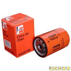 Filtro de óleo - Fram - Gol/Parati/Saveiro - 1.6/1.8 - 1995 até 2008 - com motor VW AP 1.6/1.8/2.0 ou Mi 1.6/1.8/2.0 - cada (unidade) - PH2870B
