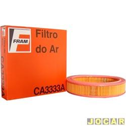 Filtro de ar do motor - Fram - Gol/Saveiro - 1.6 - 1984 até 1996 - Opala/Caravan - 1990 até 1992 - 4 e 6 cilindros - cada (unidade) - CA3333A