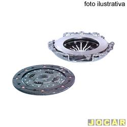 Kit de embreagem - LUK -  S10/Blazer - 2.8 - 2001 até 2011 - com disco simples - jogo - 626 3019 09