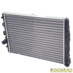 Radiador do motor - alternativo - Visconde - Gol/Parati - 1997 até 2000 - 1.0 8V e 16V - sem ar - cada (unidade) - 12508