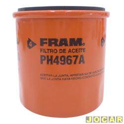 Filtro de �leo - Fram - Corolla 1.6/1.8 - 2003 em diante - 1.8  16V  VVTI - cada (unidade) - PH4967A