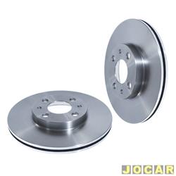 Disco de freio - alternativo - Hipper Freios - Brava 1.6/1.8-Marea-1.8-Palio-Tempra-Tipo 2.0-Idea - Doblô 1.3/1.6-disco grande-257mm-ventilado - dianteiro - par - HF-30