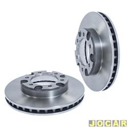 Disco de freio - Hipper Freios - A/C/D - 10/20/Silverado - 1985 at� 1999 - Bonanza/Veraneio-1980 at� 1986-ventilado -283,5 mm - dianteiro - par - HF-21