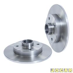 Disco de freio - Hipper Freios - Monza 1992 at� 1996- Ipanema/Kadett- 1992 at� 1998 - s�lido com cubo - 230mm - traseiro - par - HF-20B