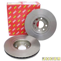 Disco de freio - Varga - Vectra 1993 at� 1996 - Vectra 2.0 8v-1997 at� 2005 - Astra 1994at�1995-Espero CD 1994at�1997-ventilado - dianteiro - par - 0081-0