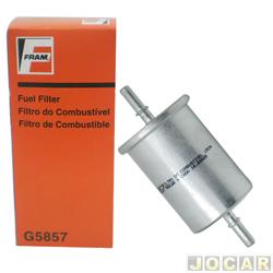 Filtro de combust�vel - Fram - Xsara Picasso 2.0 16V 1999 em diante - Clio 1.0 16V Hi-flex - 2006 em diante - cada (unidade) - G5857